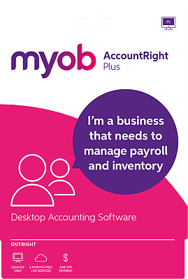 MYOB AccountRight Plus Full Licence No Subscription Email Code