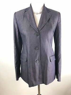 A Pea In The Pod Maternity Blazer Jacket Size Small Blue Business Career $148