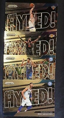 2018-19 Panini Prizm Basketball Get Hyped! Insert Cards Lot You Pick