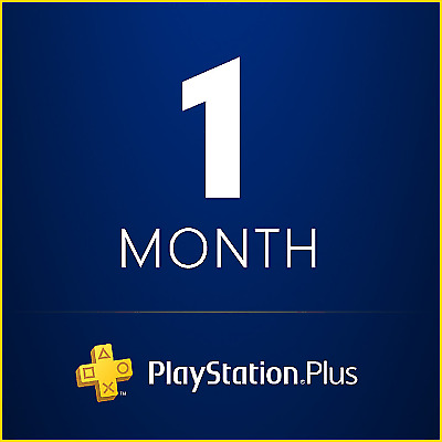1 Month PS Plus PlayStation - PS4 - PS3 - Vita Days Accounts