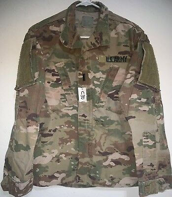 Us Army Ocp Scorpion R/s F/r Insect Repellent Combat Shirt Small Short Used(C30)