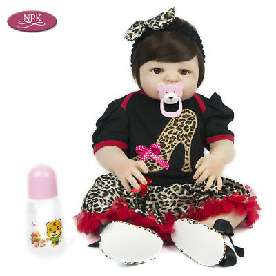 AU Reborn Toddler Baby Girl Doll Full Body Vinyl Silicone Alive Bath Bebe 22''
