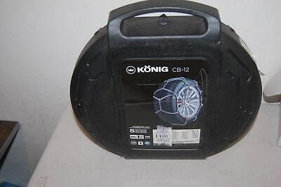 Konig CB-12  Snow Tire Chains With Case aka Thule NEW cb12