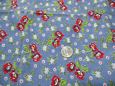 Vintage cloth feed sack floral print - quilt or craft project fabric