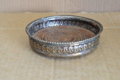 Antique Early 1800s George 111 Silver Plated Wine Bottle Coaster