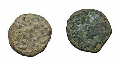 JUDAEA, Lot of two uncleaned prutah with some potential