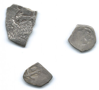 1700 Mexico Lot Of Silver Cobs - 1/2 Real Colonial