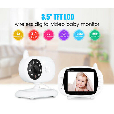 3.5'' LCD Digital Baby Monitor Audio Wireless Video Camera Night Vision Security