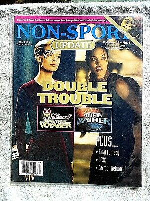June/July 2001 Non-Sport Update Mag. (Voyager/Tomb Raider Cover) Vol. 12 #3 VF+