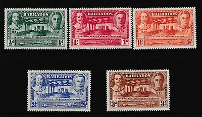 Decimal,Caribbean,Barbados,General Assembly,Set of 5,MH,SG257-61,#1844