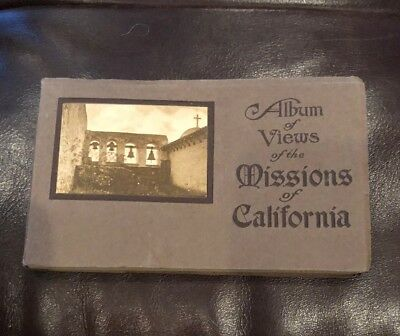 VINTAGE 1900's Post Card ALBUM VIEWS OF THE MISSIONS OF CALIFORNIA