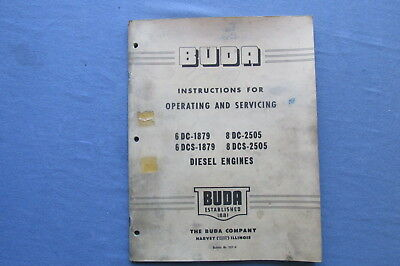 1951 Operating MANUAL for BUDA Diesel Engines 6DC-1879 8DC-2505 6DCS-1879
