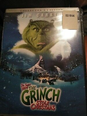 Dr Seuss How the Grinch Stole Christmas (DVD, Full Screen, 2000) - XMAS18