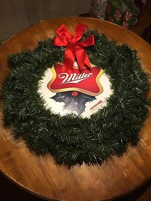 Vintage Miller High Life Beer Christmas Wreath