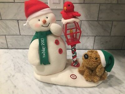 Hallmark Jingle Pals 2013 We Wish You A Merry Christmas Plush Singing Snowman