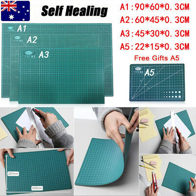 A1 A2 A3 Double-Side Self Healing Cutting Mat Craft Quilting Grid Lines +Gift A5
