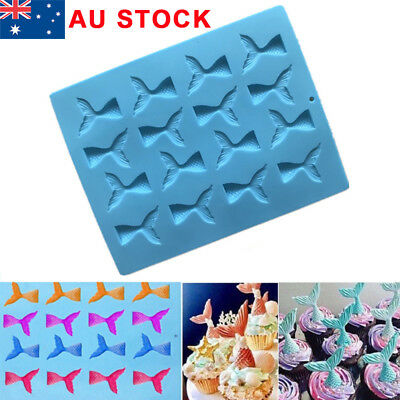 Mermaid Tail Silicone Cake Mold Jelly Cookies Chocolate Baking Mould Ice Cube