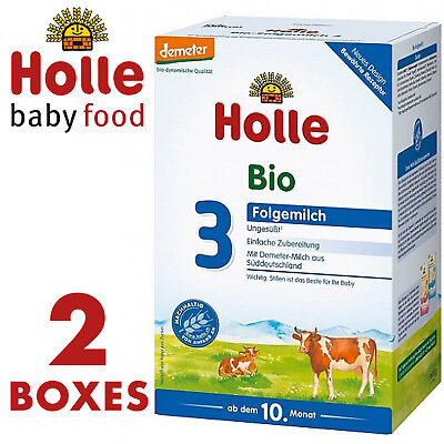 HOLLE Stage 3 ORGANIC BABY MILK FORMULA 600g FREE SHIPPING 2 BOXES /BEST PRICE/