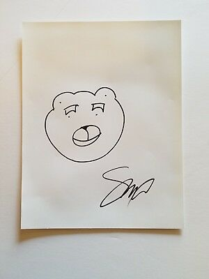 """Seth MacFarlane """"TED"""" Hand-Drawn Sketch Autographed 8.5x11 Signed"""
