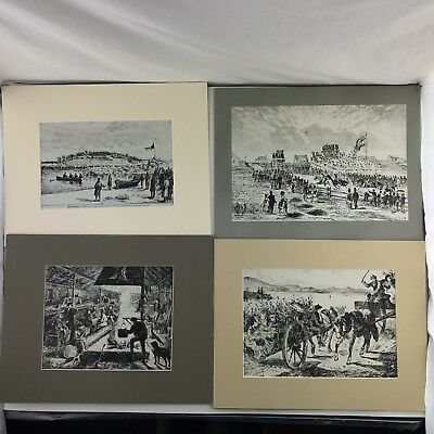 Lot of 4 Canadian Illustrated News CBC TV Illustration Boards 1880, 1872, 1870