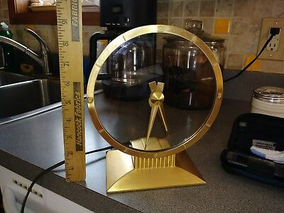 Vintage Jefferson Golden Hour Art Deco Electric Mystery Clock #580-101 Usa Works