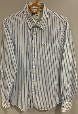 American Eagle Men's Shirt Size Xl Blue Striped Vintage Fit Men's Clothing Clothing, Shoes & Accessories