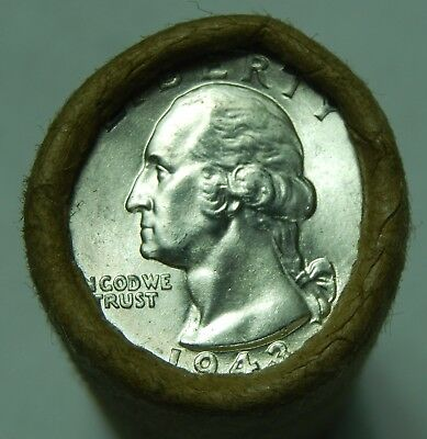 Silver Quarter Roll Washington Standing Liberty Barber 90% 1943 & S Ends 79
