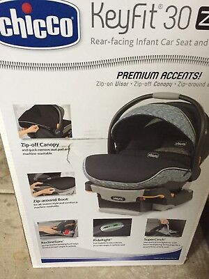 Chicco Keyfit 30 zip infant car seat with base, Privata. Exp Dec 2021.