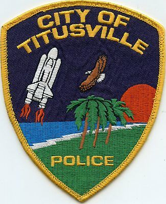 TITUSVILLE FLORIDA FL colorful POLICE PATCH