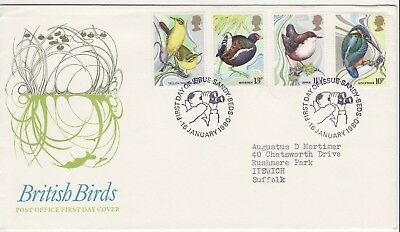 GB Stamps First Day Cover Centenary of Protection of Wild Birds SHS Twitcher1980