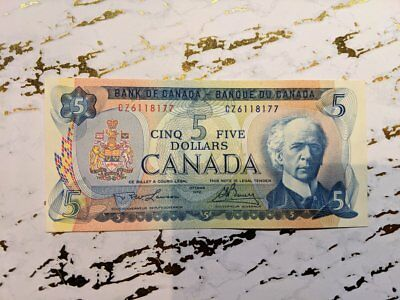 1972 Bank of canada 5 Dollars Lawson-Bouey, CZ 6118177 LOT: 431