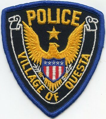 old vintage QUESTA VILLAGE NEW MEXICO NM POLICE PATCH