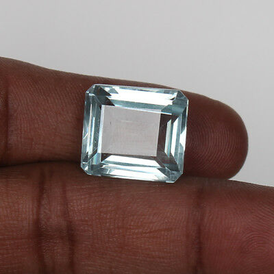 Natural 18.65 Ct. Certified Greenish Blue Color Aquamarine Octagon Cut Loose Gem
