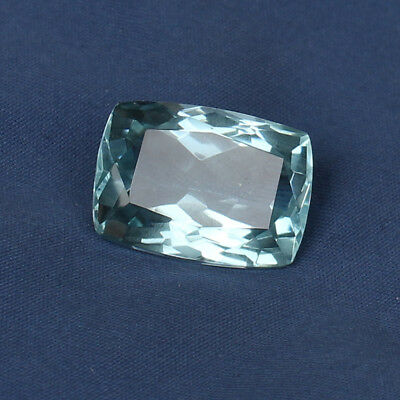 Natural 22.20 Ct. Certified Greenish Blue Color Aquamarine Cushion Cut Loose Gem