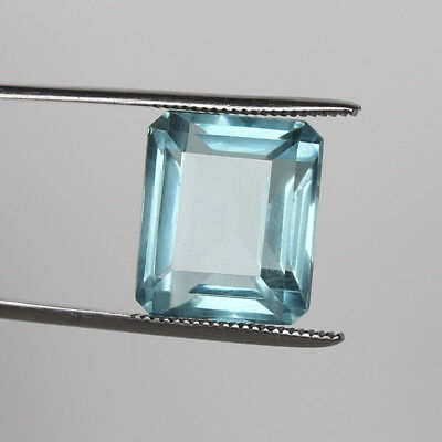 Natural 21.00 Ct. Certified Greenish Blue Color Aquamarine Octagon Cut Loose Gem