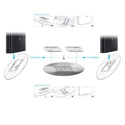 2 in 1 Game Vertical Bracket Stand Station Holder Dock for PS4 Slim PS4 Pro A2