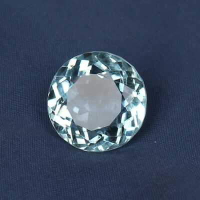 Natural 17.65 Ct. Certified Greenish Blue Color Aquamarine Round Cut Loose Gem