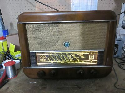 Vintage Válvula Radio Hornyphon / Philips Prinzess W452/A 1952