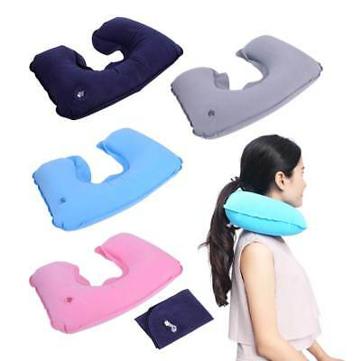 Portable Soft Inflatable Flight Travel Neck Pillow Head Air Cushion Rest U-Shape