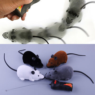 Electronic Remote Control Rat Mouse Toy RC Wireless Funny Cute For Cat Dog Pet