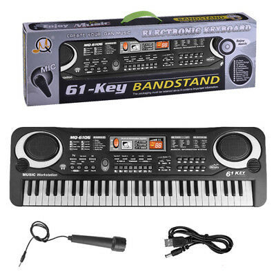 37/61 Keys Portable Piano Electronic Keyboard Digital Music Instrument With Mic