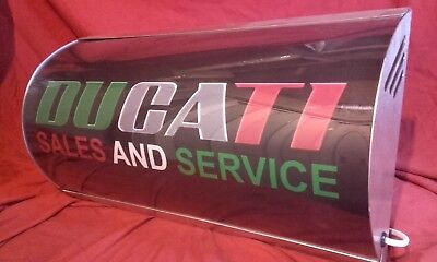 Ducati,racing,italian,500,classic,garage,light up,sign,display,mancave,workshop