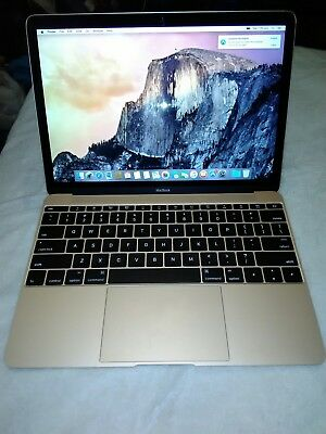 Gold Apple MacBook (Retina, 12-inch, Early 2015) - 1.1GHz, 8 GB RAM, 256 GB SSD