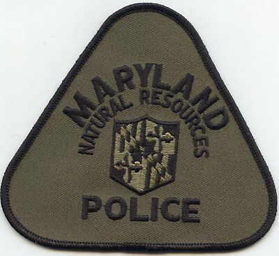 MARYLAND MD STATE DEPARTMENT OF NATURAL RESOURCES DNR subdued POLICE PATCH