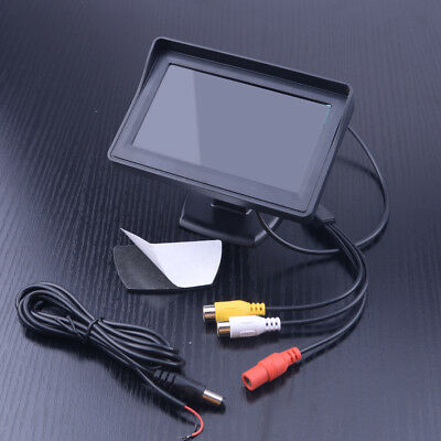 """4.3"""" TFT LCD Screen Car Rear View Backup Monitor For Parking Reverse Camera DVD"""
