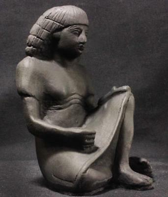 THE SCRIBE Egyptian 18th Dynasty statue 1550-1293 BC Berlin Museum replica