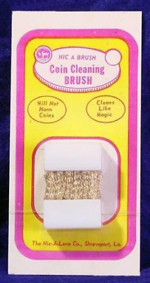 Nic-A-Brush Coin Cleaning Brush