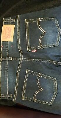 Age 14 years Boys Dark Blue Levis jeans New without tags 510 skinny fit