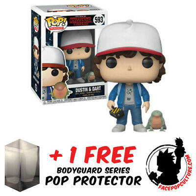 Funko Pop Stranger Things Dustin And Dart Exclusive + Free Pop Protector