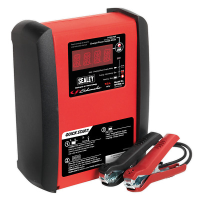 sealey Intelligent Speed Charge Battery Charger 15Amp 12V Max. 230Ah